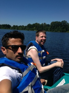 Edris and Gary enjoying time out on the water!