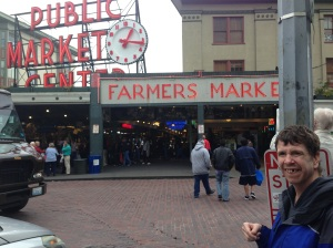 Checking out the Public Market in Seattle